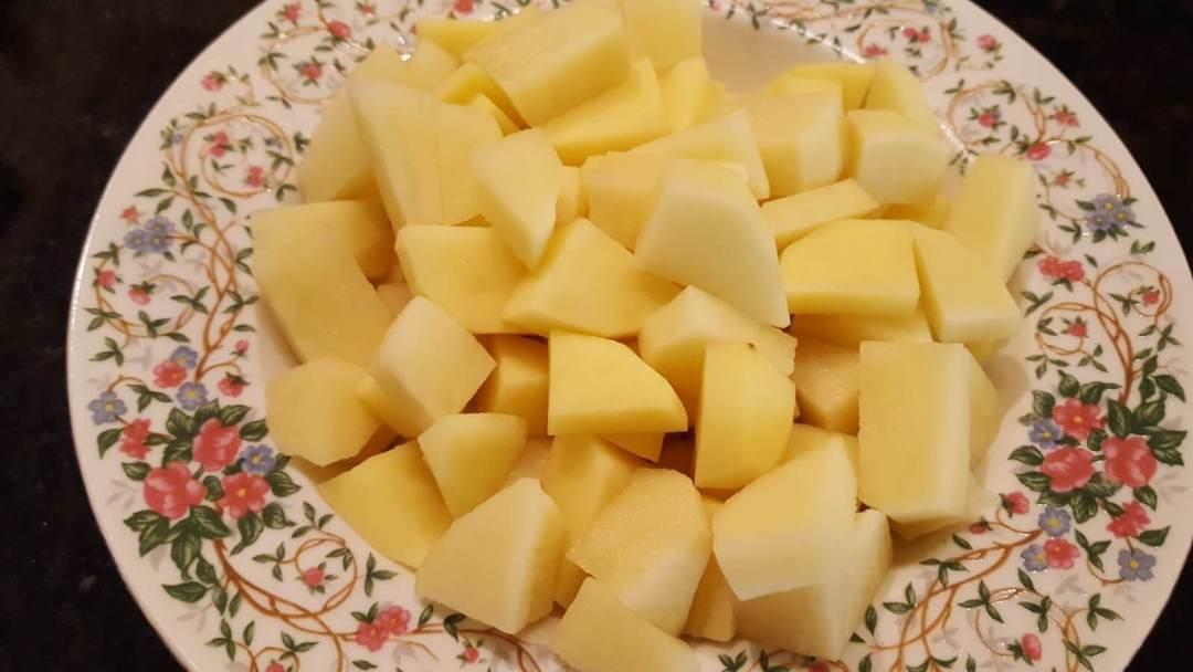 Cubed Russet Potatoes