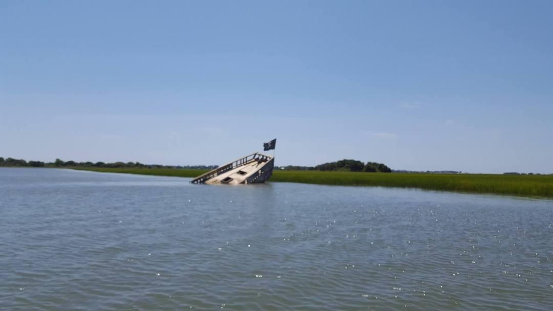 Hurricane Hugo - SC sunken boat