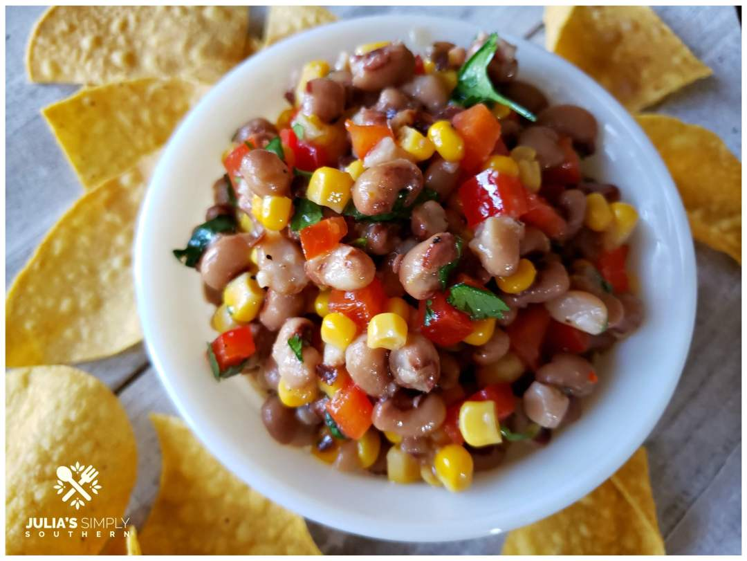Awesome delicious party dip with black eyed peas