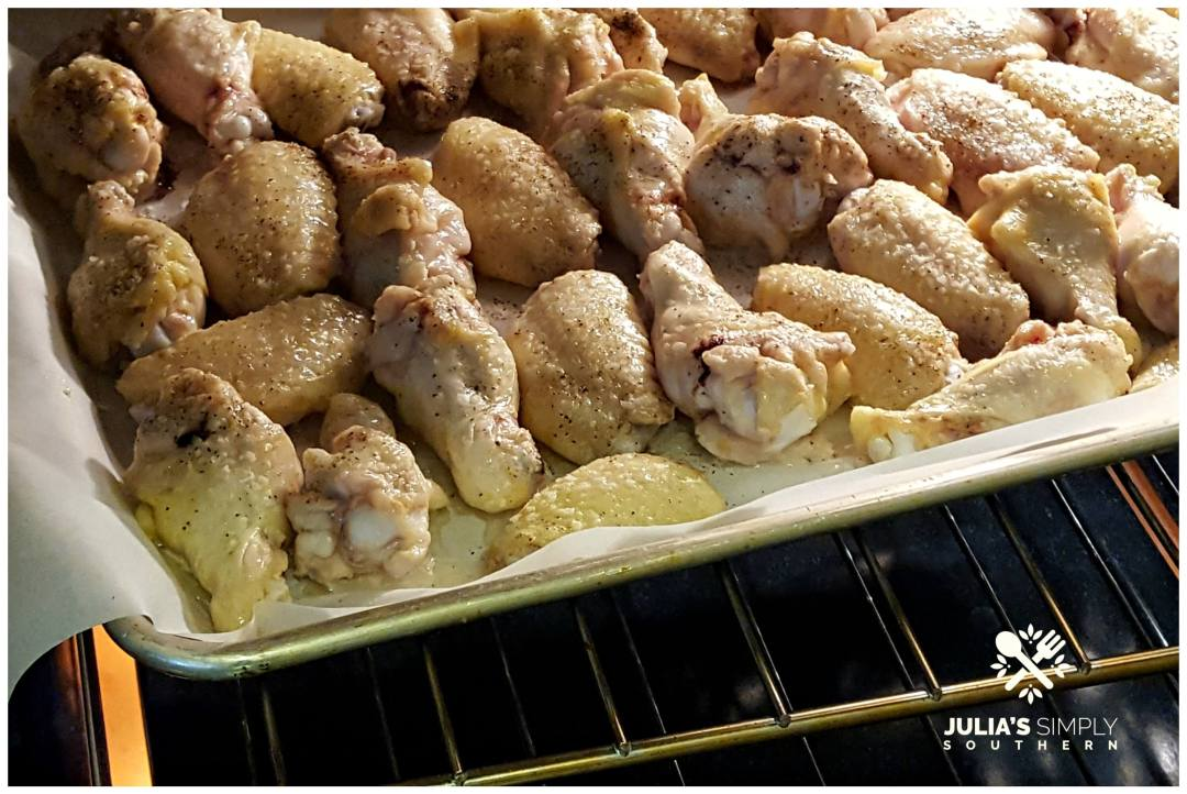 Baking chicken wings for football gatherings and tailgating