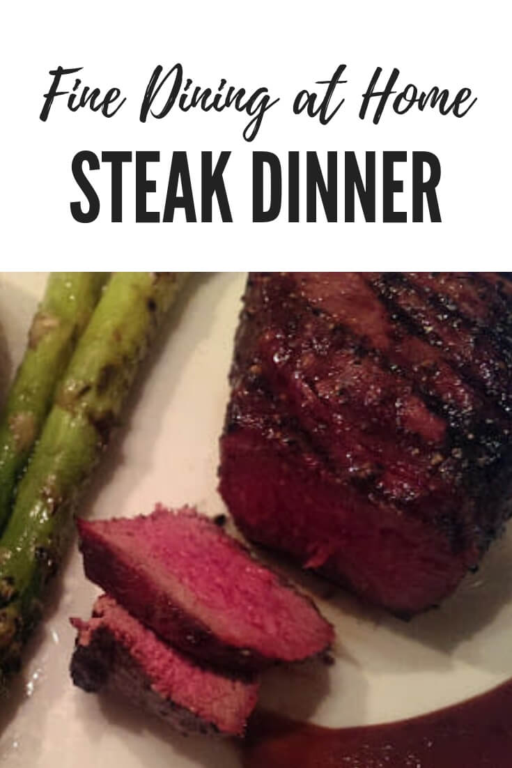 Best Grilled Steak on a Gas Grill, fine dining style steak dinner at home #beef #steakdinner #grilling