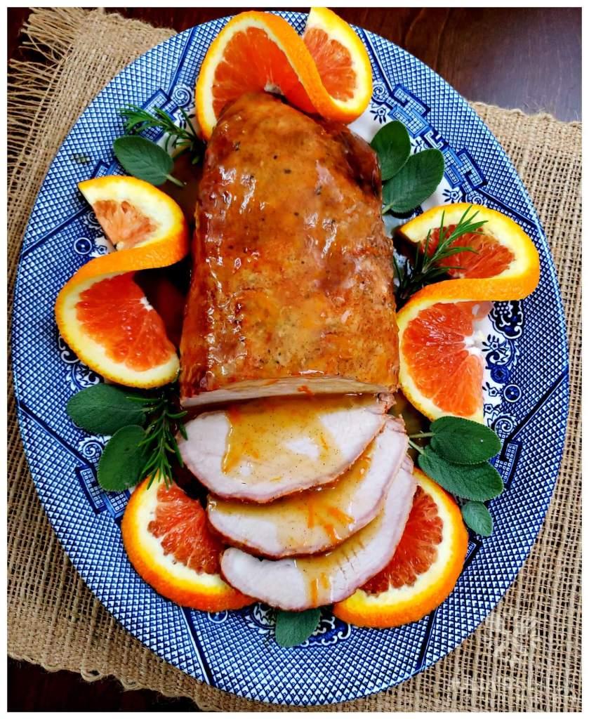 Holiday pork roast recipe with orange sauce