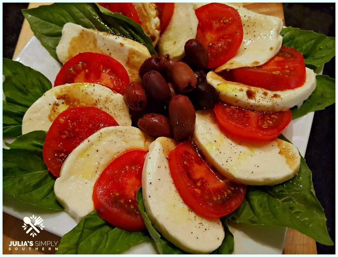 Tomato Basil and Mozzarella Salad
