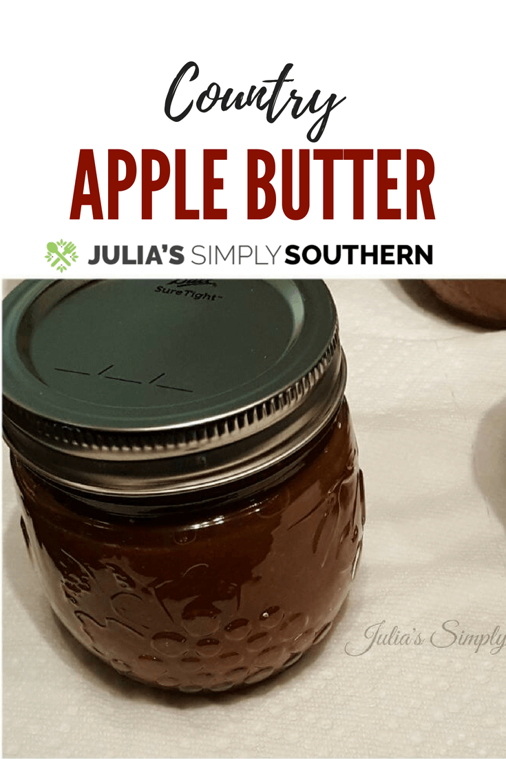 Country Apple Butter made on the stove top #apples #fall #easyrecipe #canning | Julia's Simply Southern