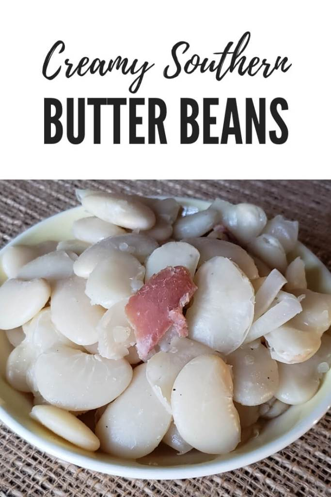 Southern style country creamy butter beans (large lima beans) cooked with ham hock #beans #butterbeans #sidedish #SouthernFood