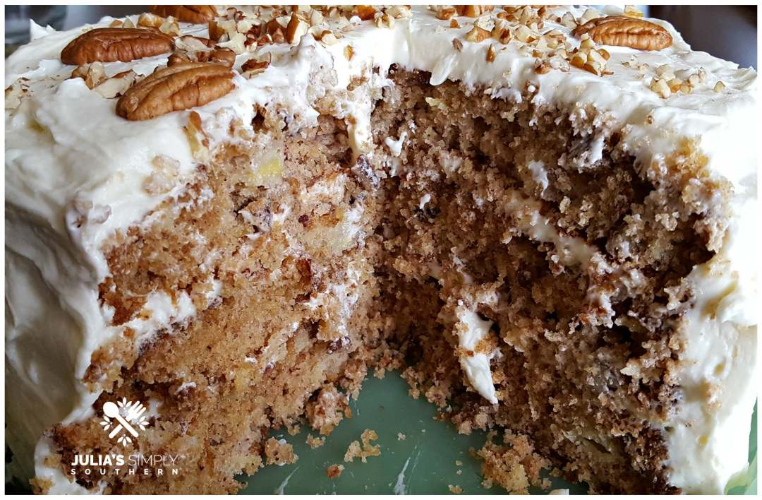 Layers of Hummingbird Cake
