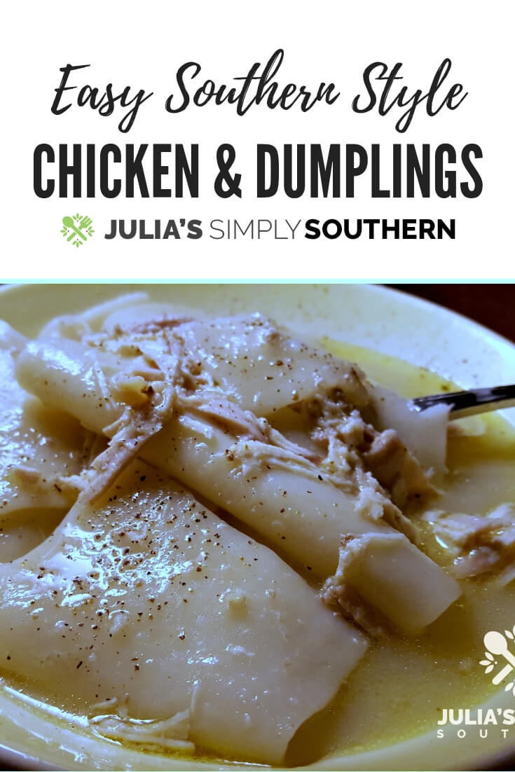 Recipe for easy chicken and dumplings #chickenrecipes #pastrydumplings #SouthernFood