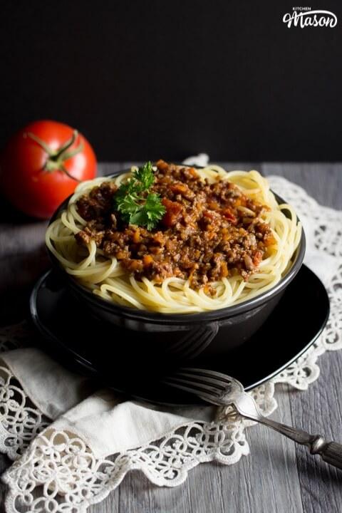 Easy Spaghetti Bolognese - Kitchen Mason
