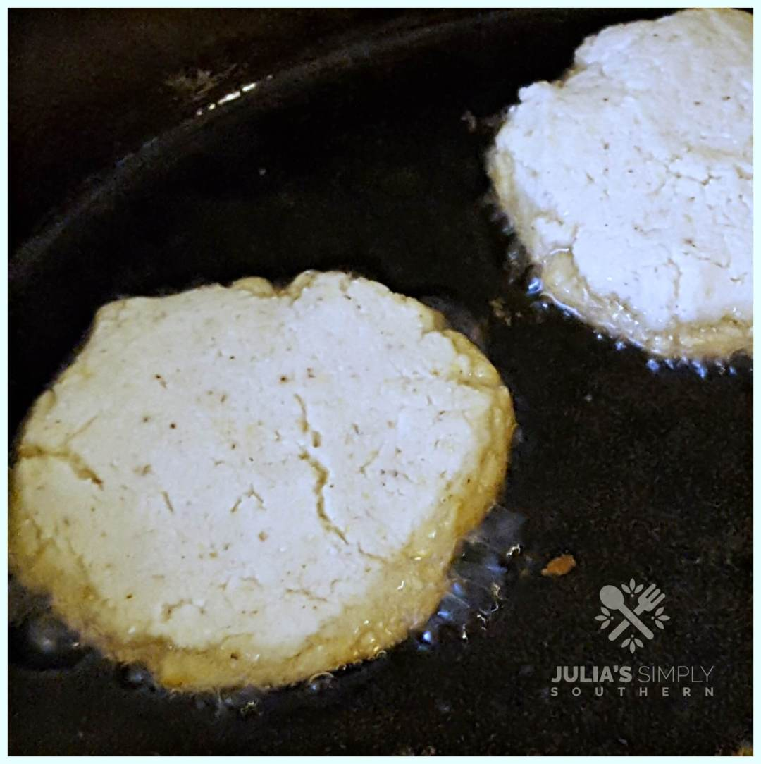 pan frying cornbread fritters