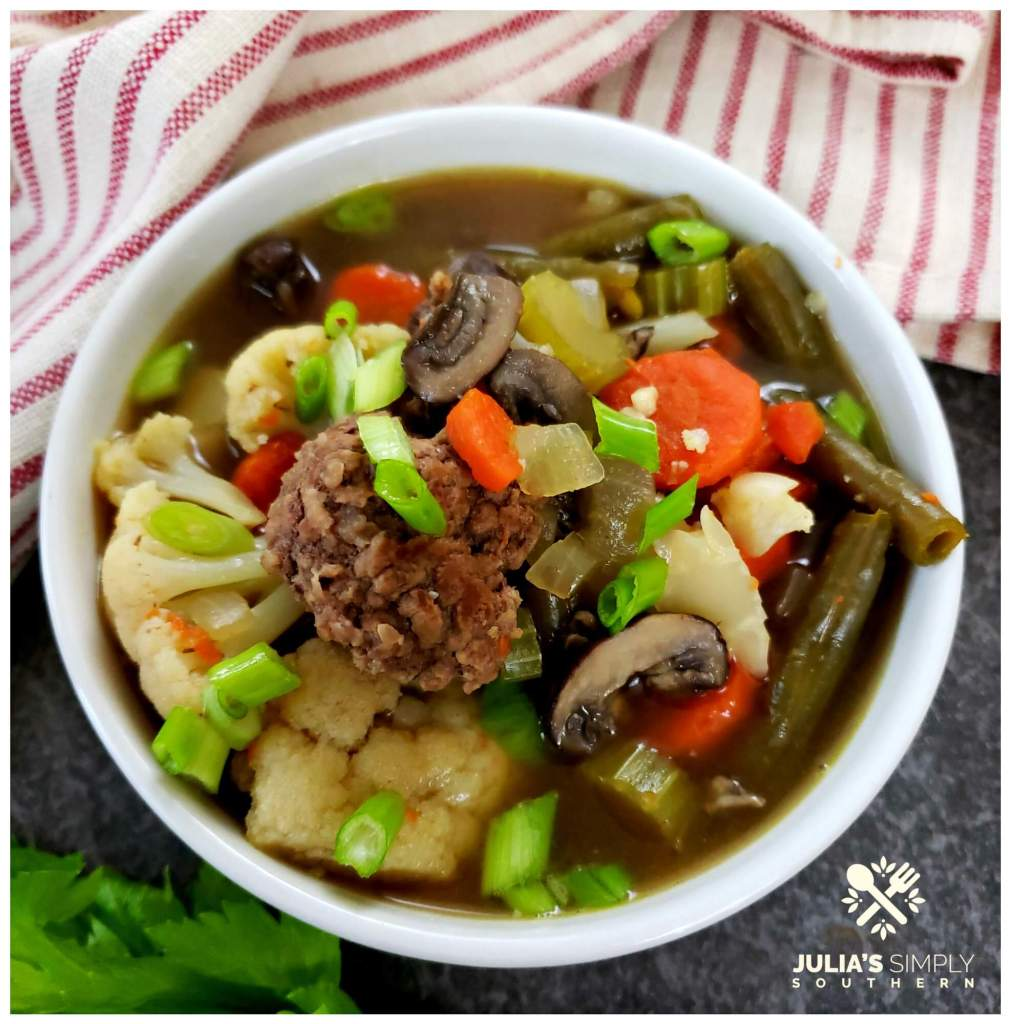 Delicious clean vegetable soup with ground beef - Recipe