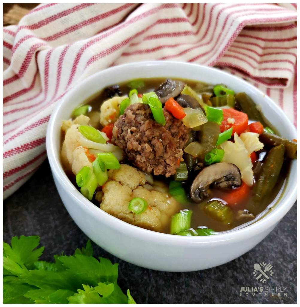 Ground beef meatball soup recipe - easy