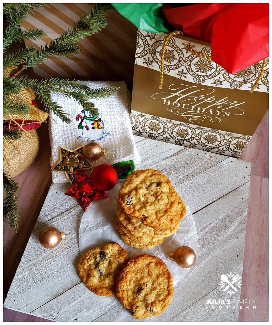 Best Christmas Cookies - Ultimate Oatmeal Raisin