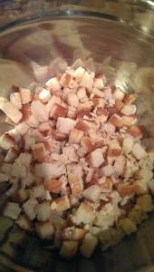 cubed bread for dressing