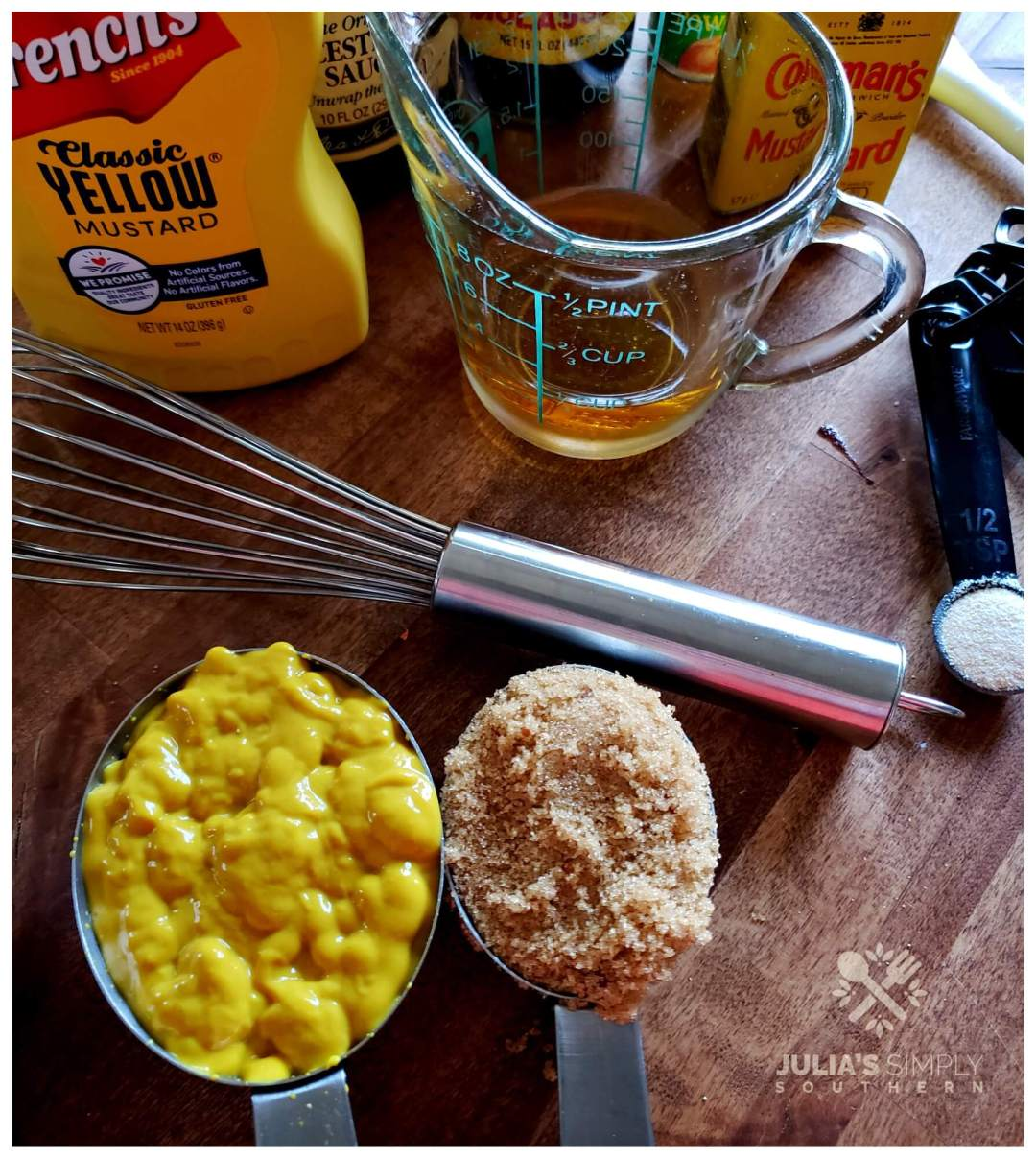How do you make mustard bbq sauce