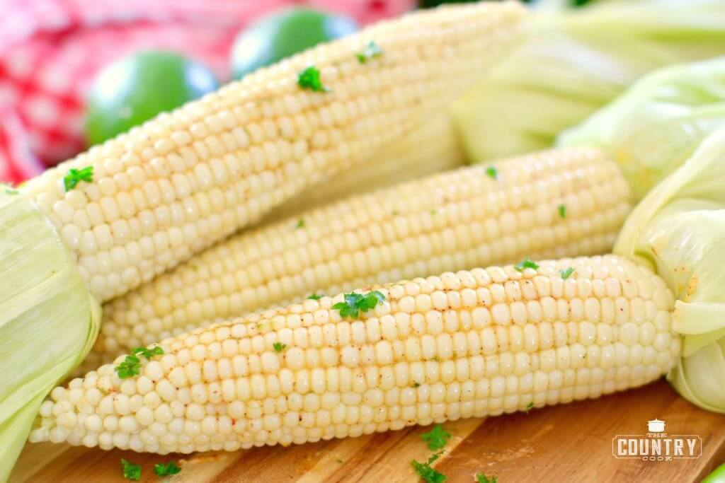 Chili Lime Grilled Corn - The Country Cook