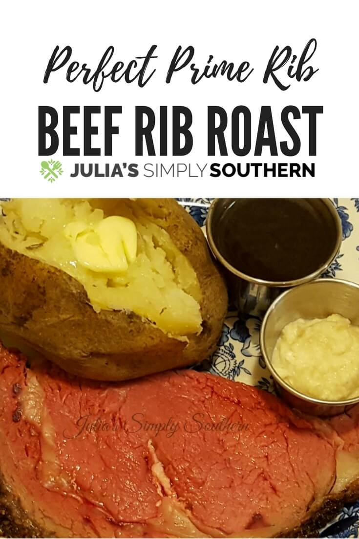 How to make the perfect prime rib - beef rib roast is great for any special occasion or holiday meal #beef #primerib #roast #Christmas #dinner #specialmeals #beef |Julia's Simply Southern