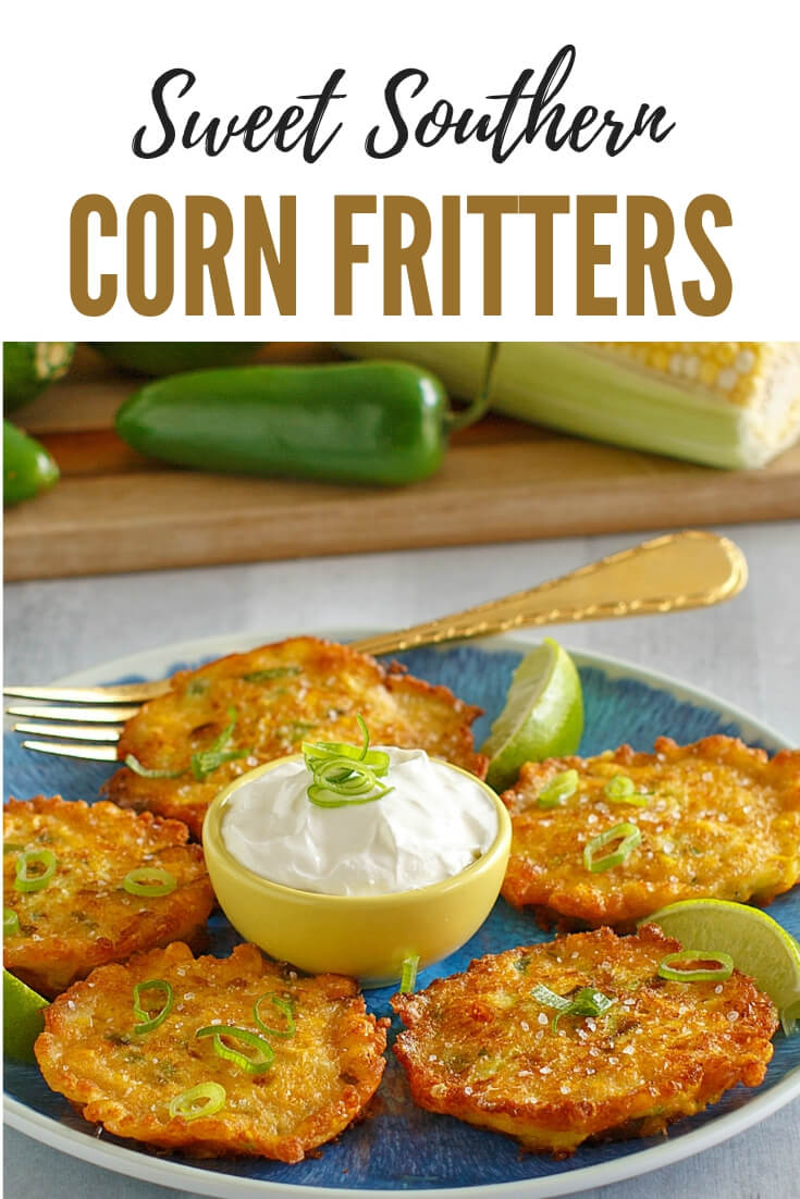 How to make old fashioned corn fritters? Make delicious classic corn fritters with a bit of a twist with Parmesan and jalapeno. These delicious fritters are made with fresh corn kernels and delicious as an appetizer, snack or side dish. Easily prepared in minutes. #corn #cornrecipes #fritters #goldennuggets