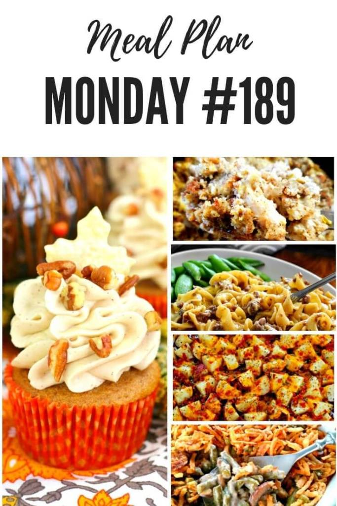 Pinterest meal planning recipes at Meal Plan Monday #189 #mealplanmonday #mealplanning #freemealplanrecipes #easyfamilymeals #holidayrecipes