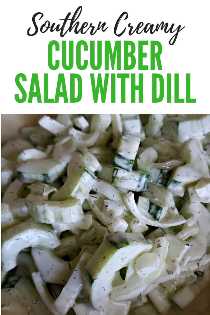 How to make creamy cucumber salad? Make a delicious creamy cucumber salad with sweet onion and dill in a creamy tangy dressing of sour cream, mayonnaise and buttermilk. This easy summer side dish is cool and refreshing and always delicious. #cucumber #easyrecipe #summersides #sidedish #creamycucumbers
