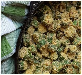 Southern Skillet Fried Okra