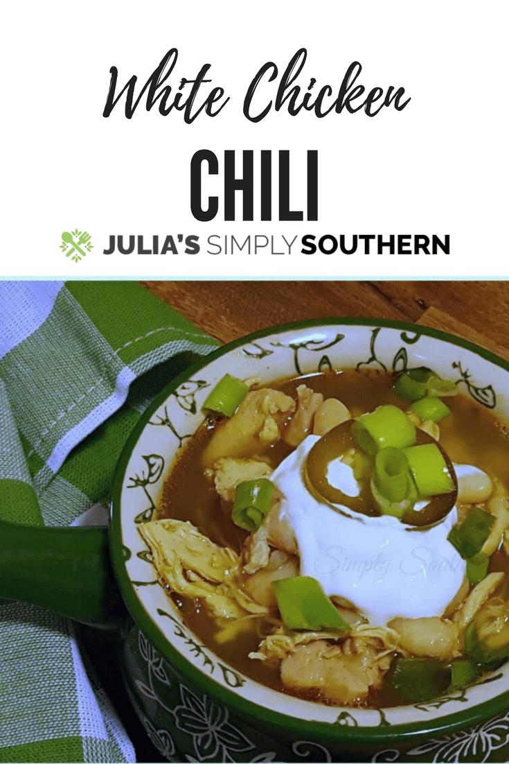 White Chicken Chili #Soup #Stew #Fall #comfortfood #delicious #chicken