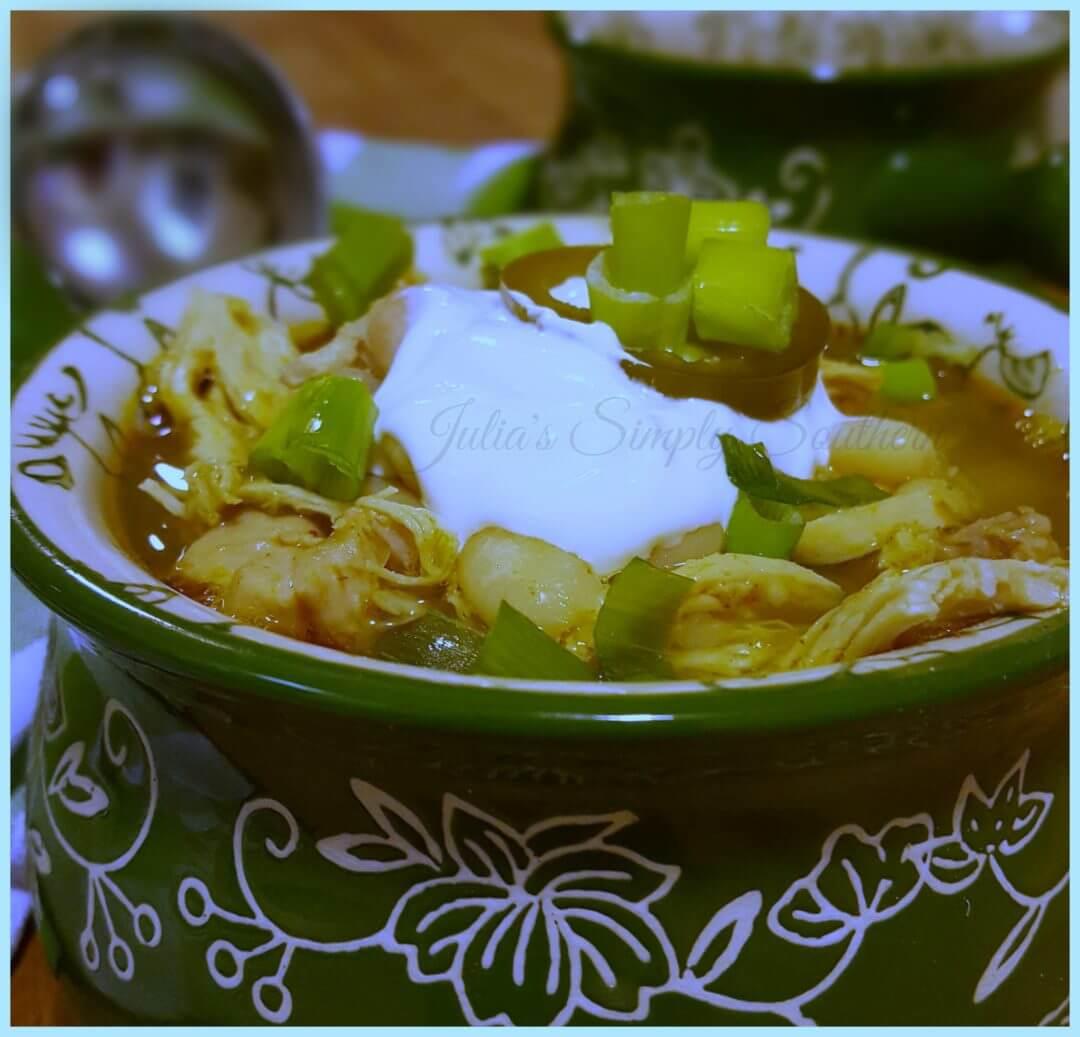 Southern White Chicken Chili Recipe