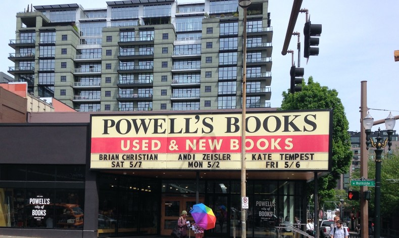 Powell's Books on W. Burnside. What you can't see is that this store takes up most of the block.