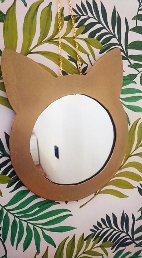 Katzenspiegel, DIY Katzenspiegel, DIY Spiegel, Do it yourself Spiegel, DIY geschenk, Last minute geschenk,