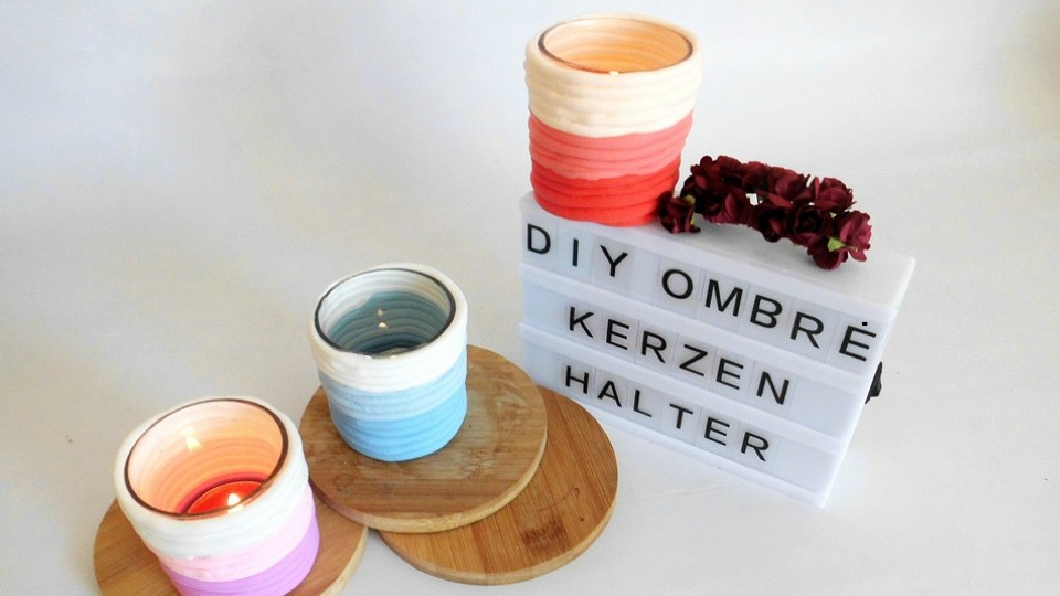 DIY Ombre Teelichthalter