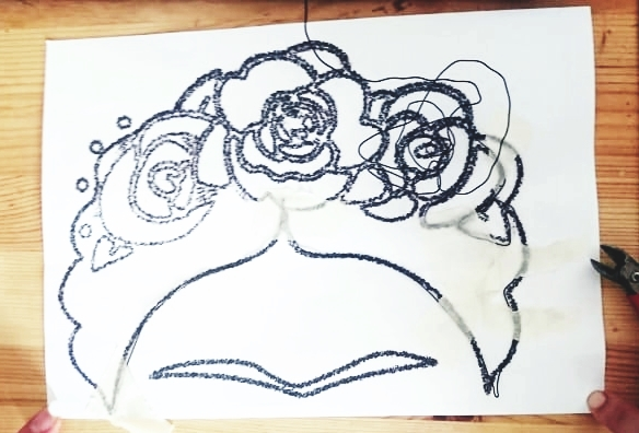DIY Drahtbild Frida Kahlo (4)