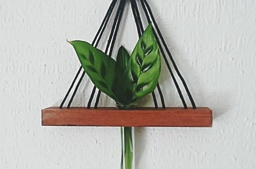 DIY Wandvase minimialistische wandvase selber machen. urban flair und jungle flair mit selbgemachter wandvase. Vase mit Reagenzglas selber machen. DIY Holzvase, einfachde do it yourself für erwachsene