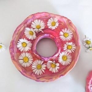 Gänseblümchenvase DIY, DIY mit Fimo, do it yourself für erwachsene, diy mit Pflanzen