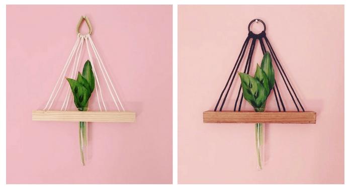 DIY Pflanzenvase mit Reagenzglas für Stielblumen perfekt DIY interior und diy deko für diy mit pflanzen und diy möbel. reagenzglas diy für daheim