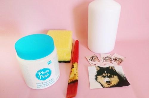 DIY Fotokerze, Kerze selber bedrucken als persönliche Geschenkidee, fotogeschenk