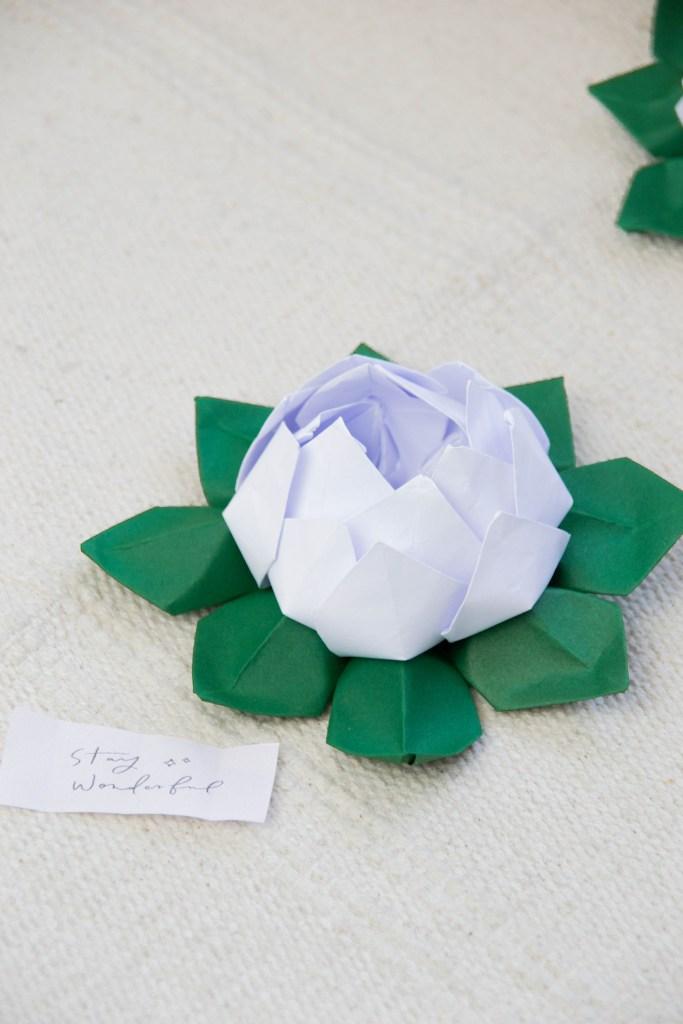 origami lotusblüte falten