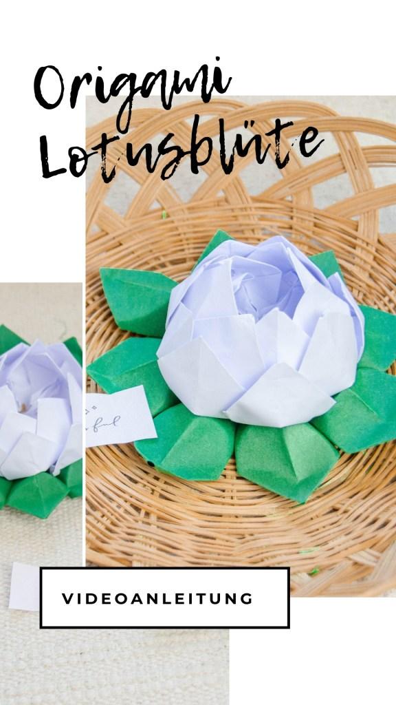 origami blüten falten
