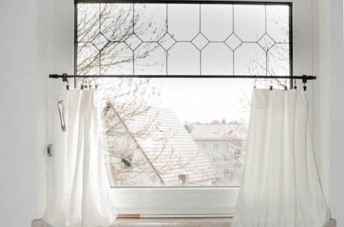 viktorianische Fenster selber machen - diy Fenster makeover - Fenster Dekoration mal anders, mit schönen Vorhängen und Rahmen direkt selber gestalten - Fensterglasverzierung selber machen