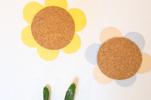 DIY Blümchen Pinnwand - Kinderzimmer Projekte zum basteln - Kinderzimmer Deko Ideen zum selber machen