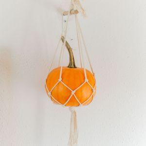 DIY Makramee Kürbisampel - Makramee Kürbis - macramee Pumpkin