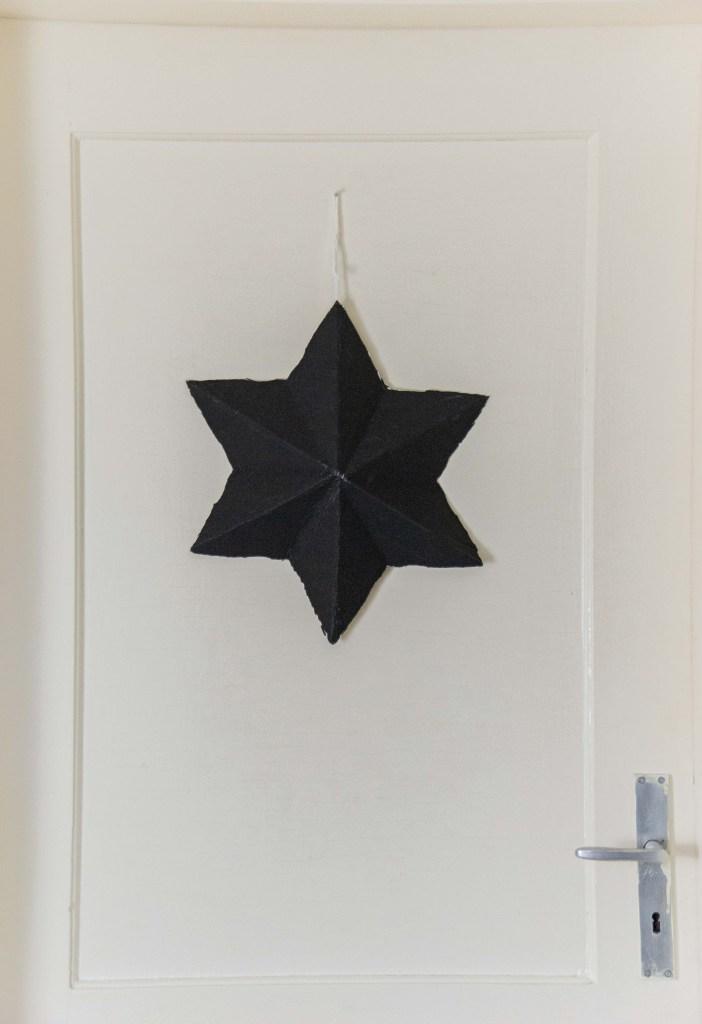 3d Sterne in schwarz