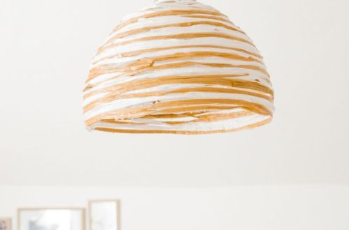 DIY Lampe aus Bast