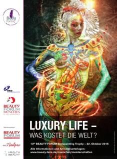 Beautyforum München 2016, Painter Einat Dan, Model: Ramona, Composing: Julie Boehm