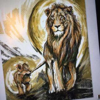2016 makingof Illustration Lion son & father