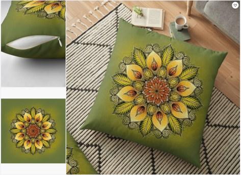 julie boehm sunflower pillow 2