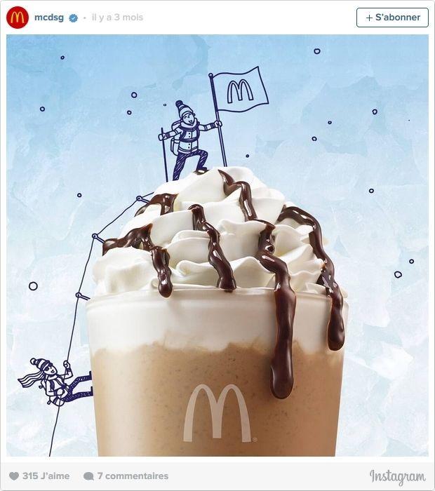Mac Donald's : customisation des produits avec des dessins sur Instagram