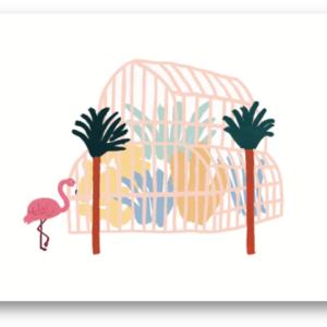 Carte postale Léa Maupetit pour Julie Flamingo