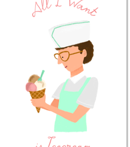 carte postale ice-cream new york