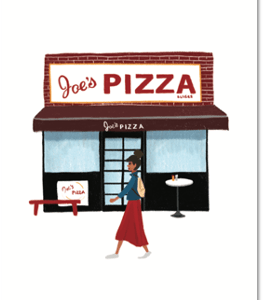 joe's pizza carte postale new york