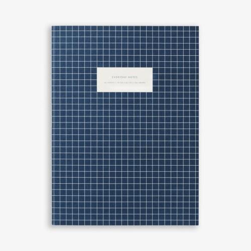 cahier carreaux bleu