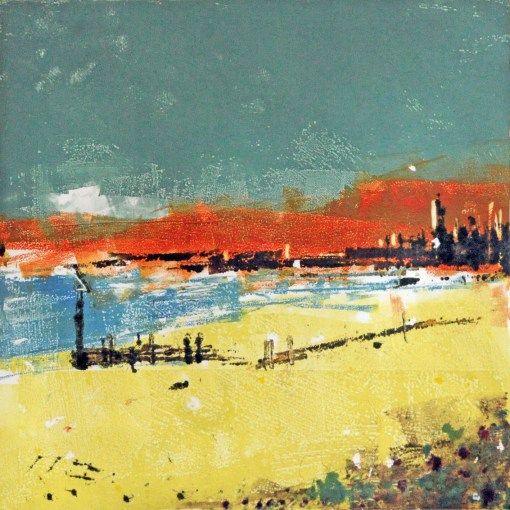 Hayling Bay monoprint